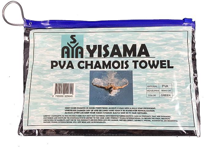 YISAMA Toalla De PVA Chamois Perfecta Para Deportes Acuaticos, Camping, Pesca Solo Escurrir Y Secar De Nuevo Empaque Flexible 43x66 Color Rosada: Amazon.es: ...