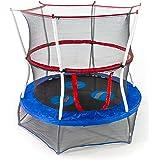 Skywalker Trampolines Mini Trampoline with Enclosure Net, 60 - Inch, Blue