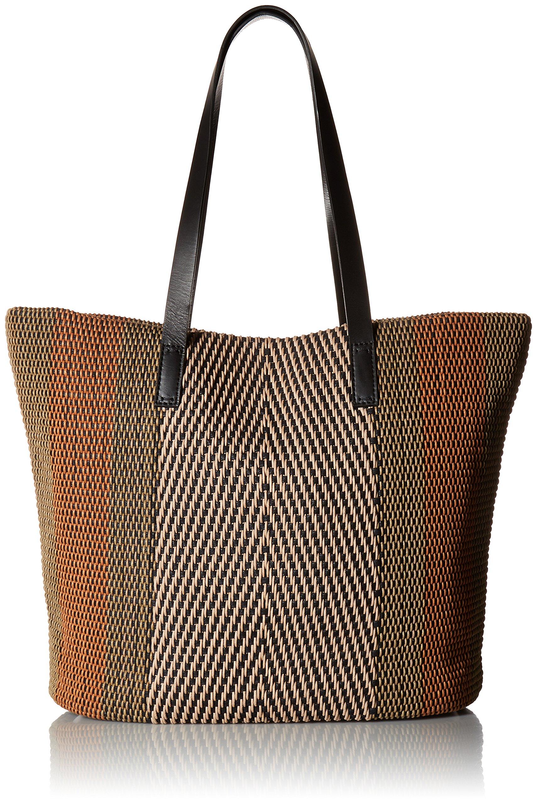Lucky Teki Tote Bag, Natural/blac