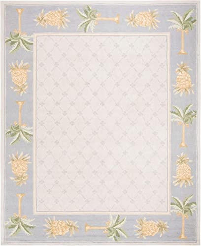 Safavieh HK362 Chelsea Area Rug 9 9 L x 7 9 W Large Rectangle Light Blue Blue