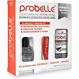 Probelle 2-Step Fungal Nail Renewal System 100% Natural - Clinically proven (94% Success) to restore fungal toenails and fingernail fungus