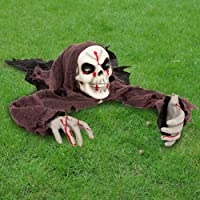 JOYIN Halloween Skeleton Groundbreaker with bloodstains, Halloween Skeleton Decorations for Halloween Outdoor, Lawn, Yard, Patio Decoration, Halloween Haunted House Decorations