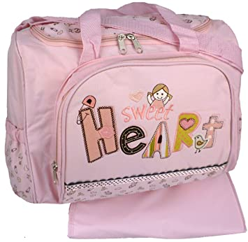 Amazon.com: Bebé Rosa Sweet Heart bebé niña bolsa de pañales ...