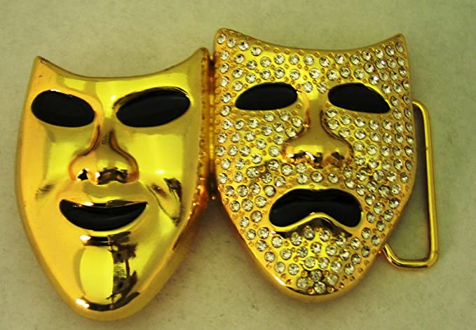 Amazoncom Hip Hop Bling Gold Finishing Laugh Now Cry Later 2 Faces