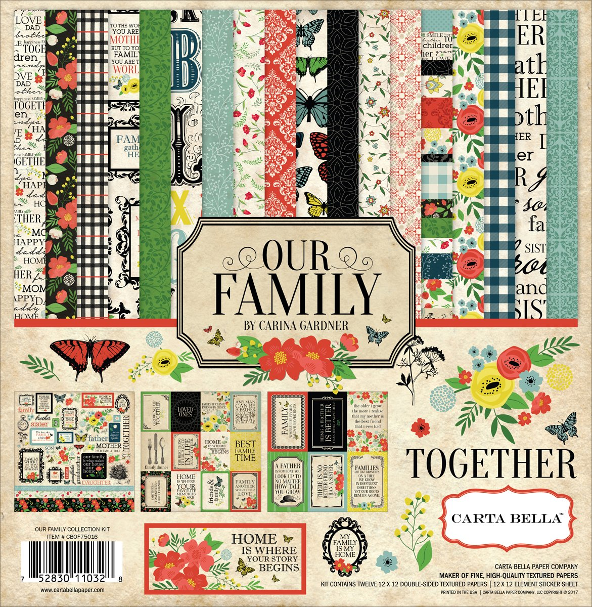 Carta Bella Paper Company Our Family Collection Kit Echo Park Paper Company CBOF75016