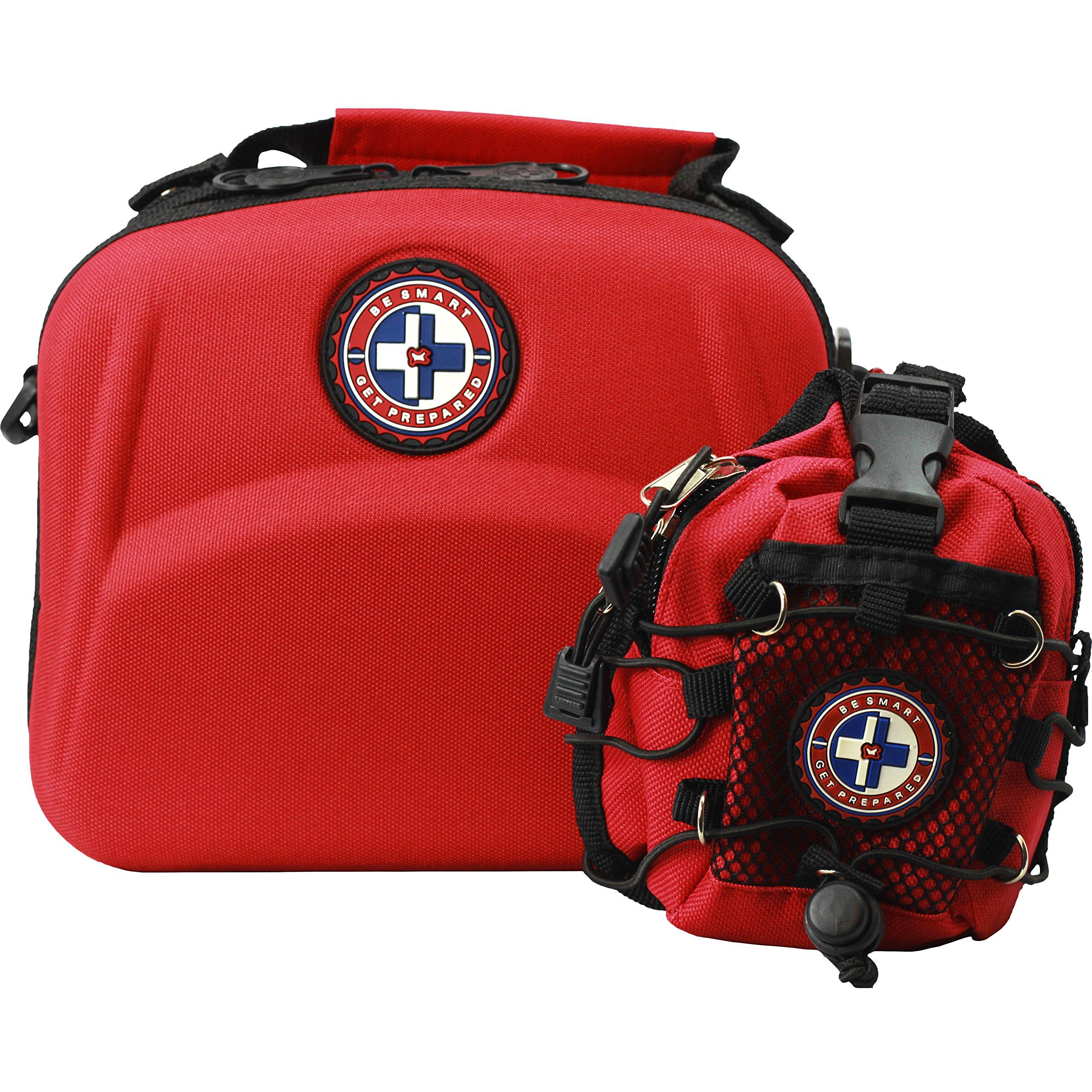 397 Piece First Aid Kit + BONUS Mini First Aid Kit by Be Smart Get Prepared