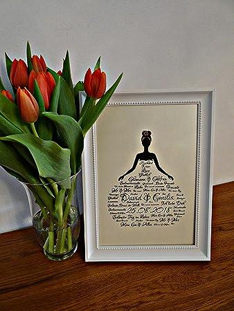 Personalisiertes Hochzeitsgeschenk Mit Namen Und Datum