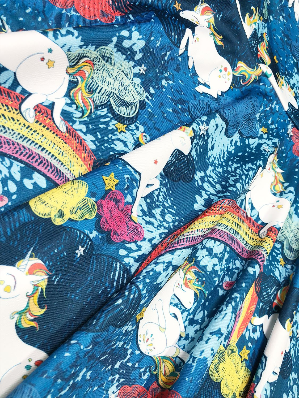 Minilove Gilrs Unicorn Rainbow Dress(6,Navy) by Minilove (Image #3)