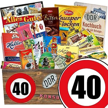 Geschenkset 40 Geburtstag Ddr Korb Schoko 40 Geburtstag Lustige