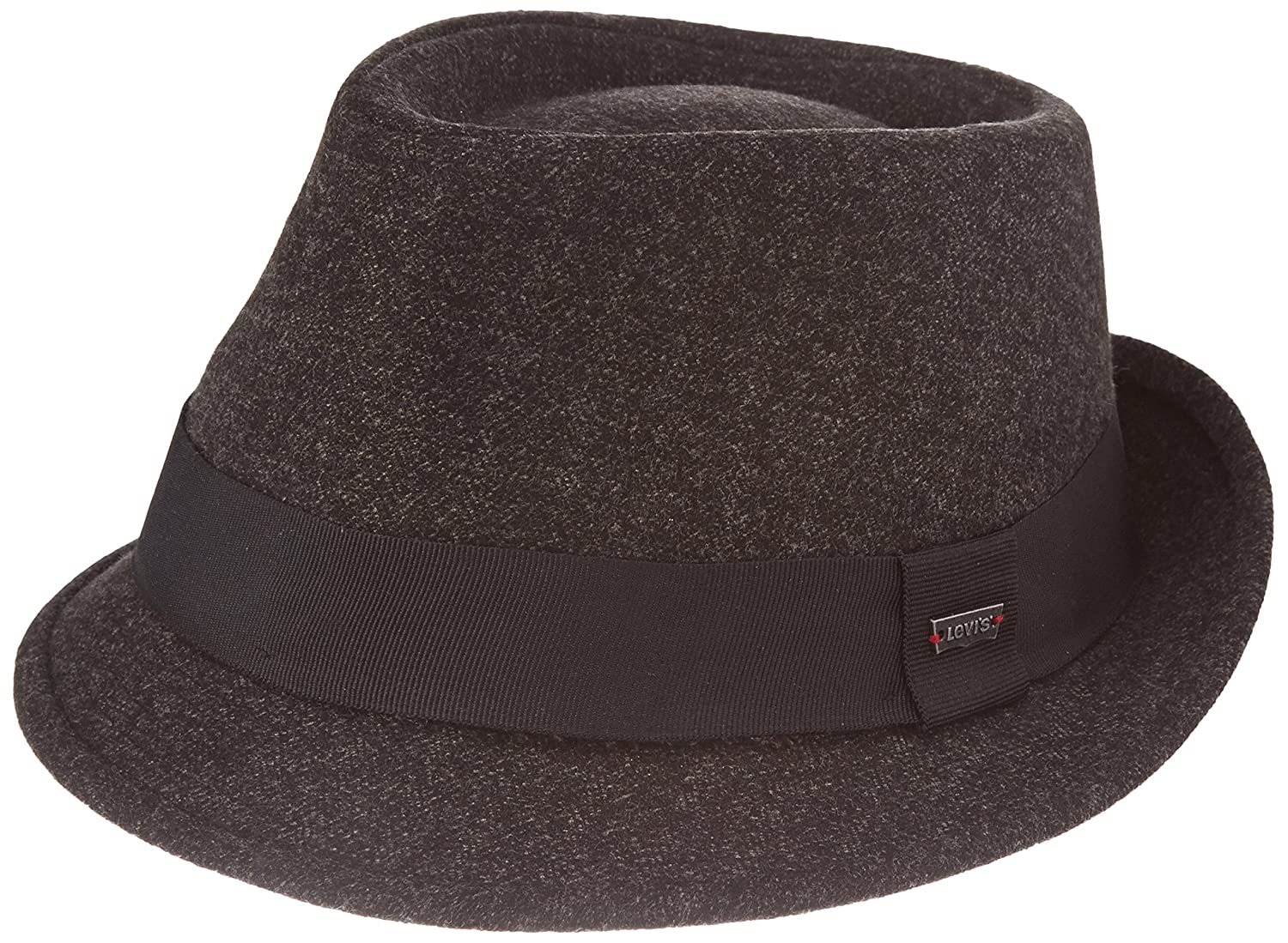 Levi's Herringbone Trilby Black Outside Band Porkpie Hat Levi' s 222167-8