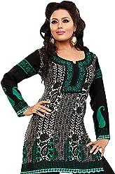 Unifiedclothes Women Fashion Casual Short Indian Kurti Tunic Kurta Top Shirt Dress 59D