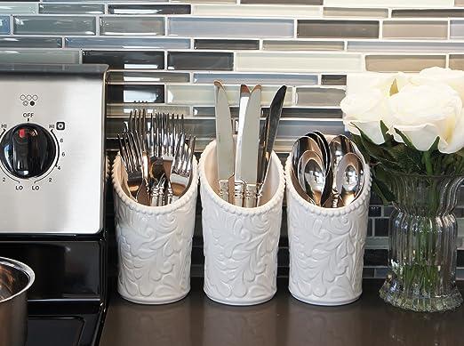 Amazon.com: iEnjoyware, recipiente para utensilios de cocina ...