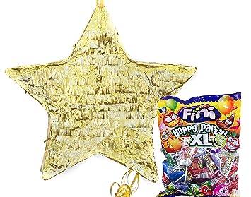 Mery & Lola Party Deco PIÑATA Estrella Dorada 39 x 39 cm ...