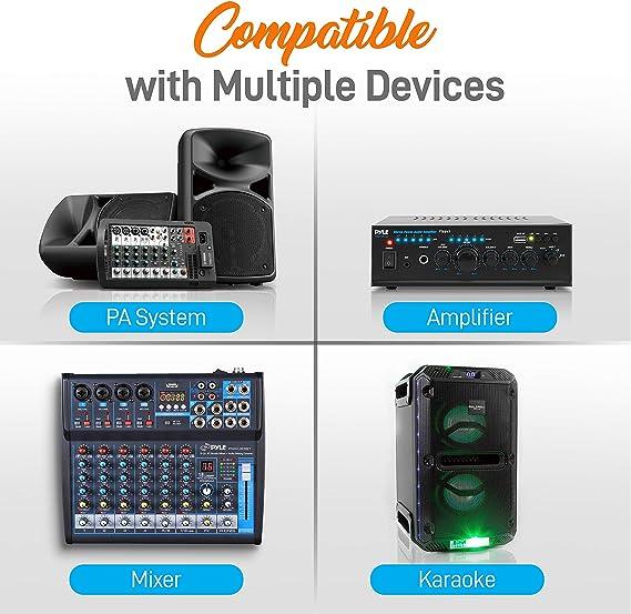 Ibiza Sound VHF Wireless 4 Mic Set Microphone System PA Karaoke Party Event Pro