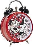 Joy Toy 21761 8 cm Minnie Mini Twin Bell Metal Alarm Clock in Gift Wrap