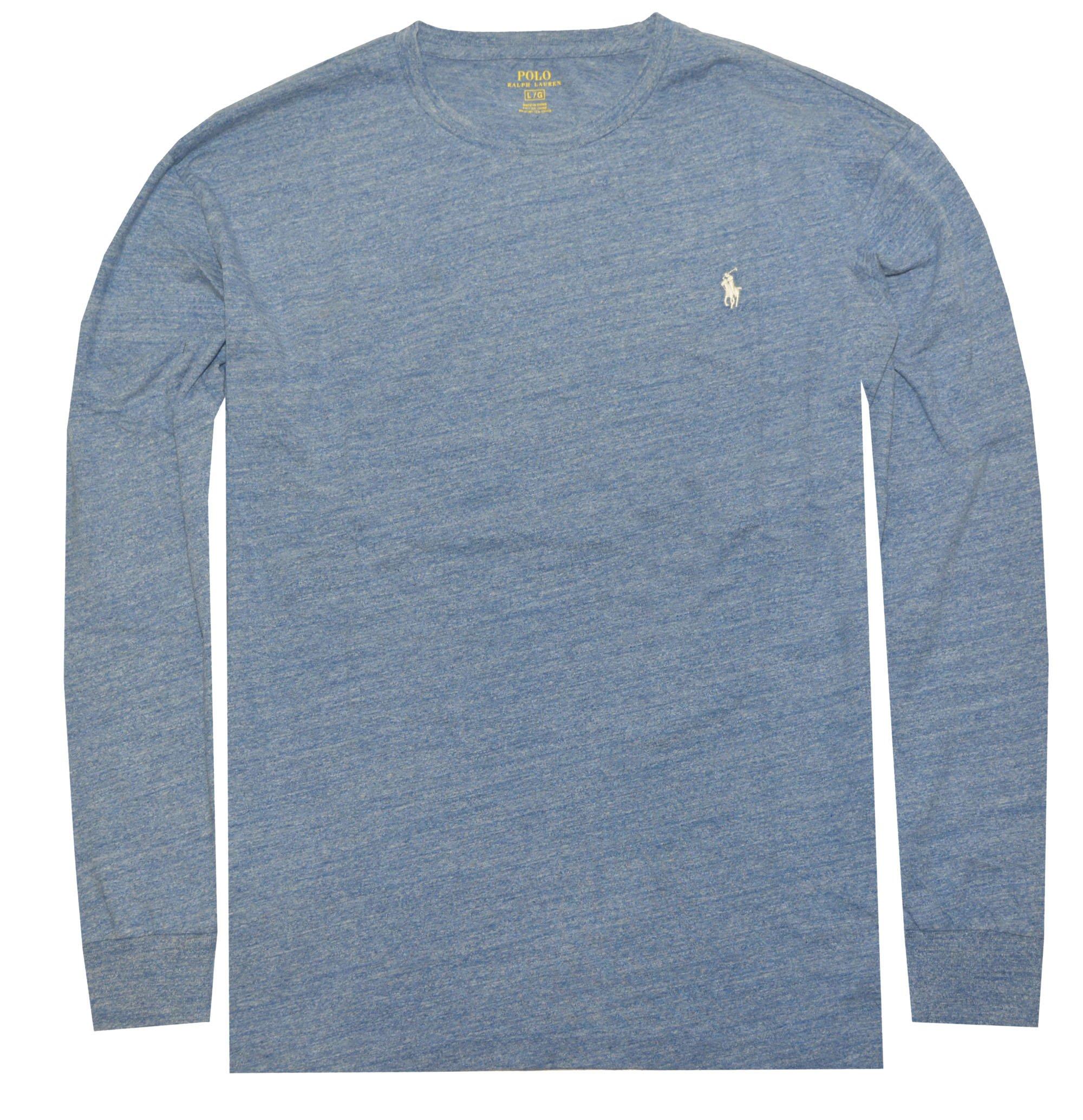 Polo Ralph Lauren Men's Long Sleeve Pony Logo T-Shirt - X-Large - Delta Blue