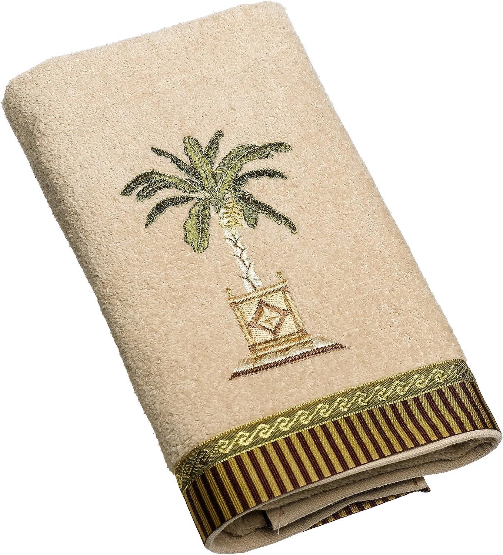Avanti Linens Banana Palm Hand Towel, Linen,3022LIN