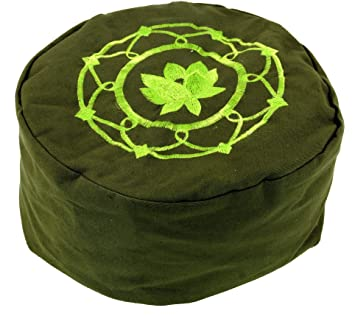 Guru-Shop Almohada de Meditación Bordada con Relleno de ...