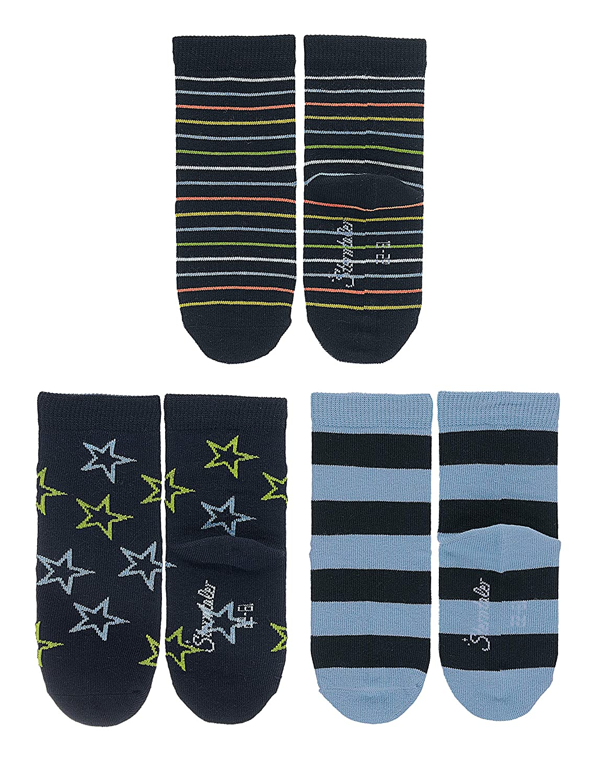 Sterntaler Chaussettes Pack de 3 /Âge: 6-12 Mois, Motif ray/é
