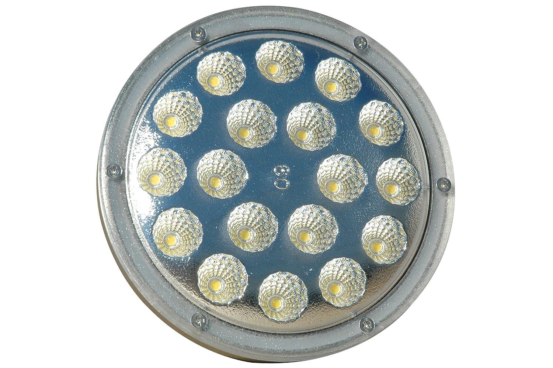 Waterproof 120-277V AC 25 Watt LED PAR 38 Spot//Flood Light 2500 Lumens -White6000K-Flood-12-24V DC