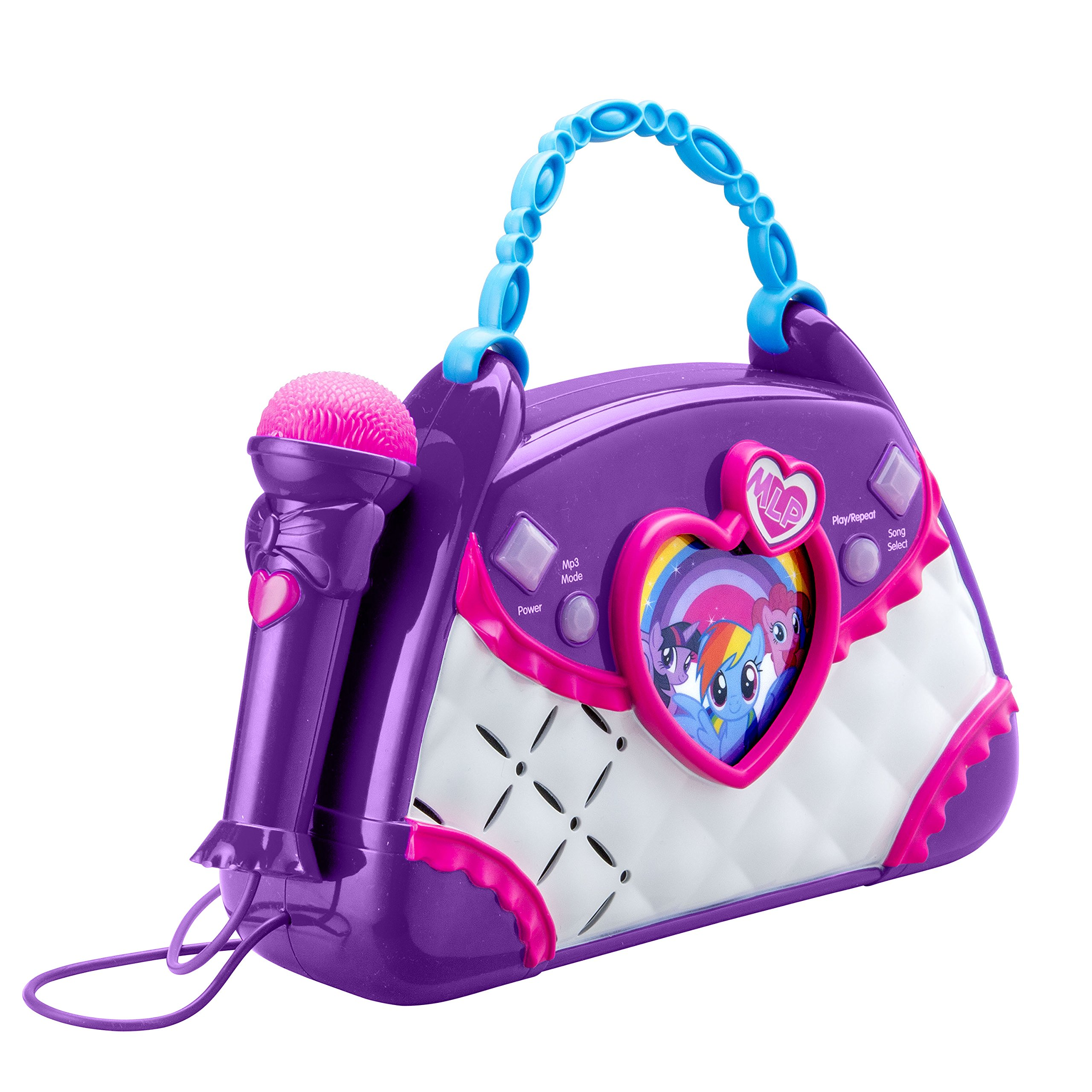 My Little Pony Sing Along Boombox with Real Working Mic Built in Music and Can connect to MP3 Player by eKids