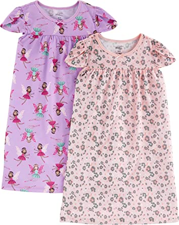 Simple Joys by Carters Little Kid Girls 2-Pack Nightgowns