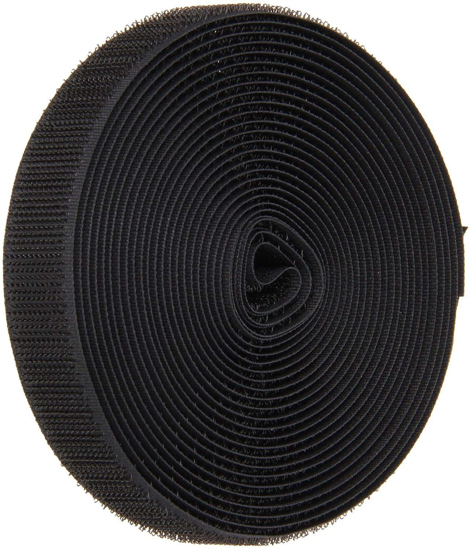 VELCRO 1003-AP-PB/H Black Nylon Woven Fastening Tape, Standard Back Sew-On Hook Only, 3/4' Wide, 15' Length 3/4 Wide 15' Length CS Hyde Company Inc 1003-AP-PB/H-15