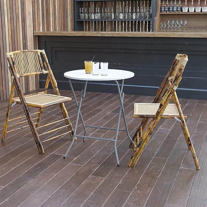 Amazon Com Flash Furniture 24rnd 2 Foot Round Granite White Plastic Folding Table Decor