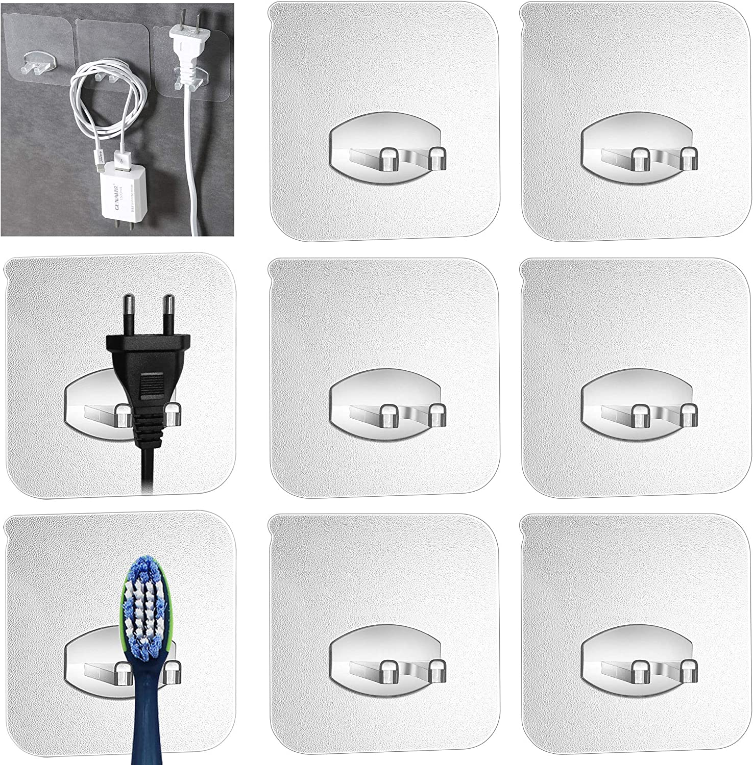 1X Home Bathroom Toothbrush Suction Plastic Holder Rack Wall Mount Hang Stand