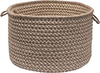 product image for Colonial Mills Natural Wool Houndstooth Utility Basket, 24 by 14-Inch, Latte