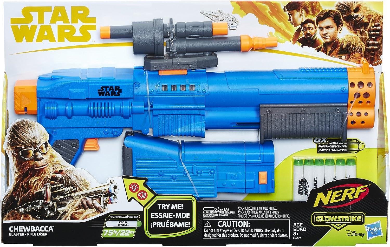 Blaster Chewbacca HASBRO Star Wars Nerf glowstrike jouet plein air pistolet