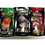 Colourful Aquarium Okiko Platinum 100G + Head Up 100G + Quick Red 100G - Flower Horn Fish Food