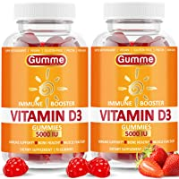 Vitamin D3 Gummies 5000 IU, 140 Count, Immune Support, Bone Health, and Joint Support, Premium Vitamin D Gummies for Men and Women, Alternative to D3 Capsules, Softgels, Tablet, Drops, 2 Pack