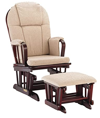 half off d9900 1a291 Shermag Glider Rocker Combo, Cherry with Beige Chenille