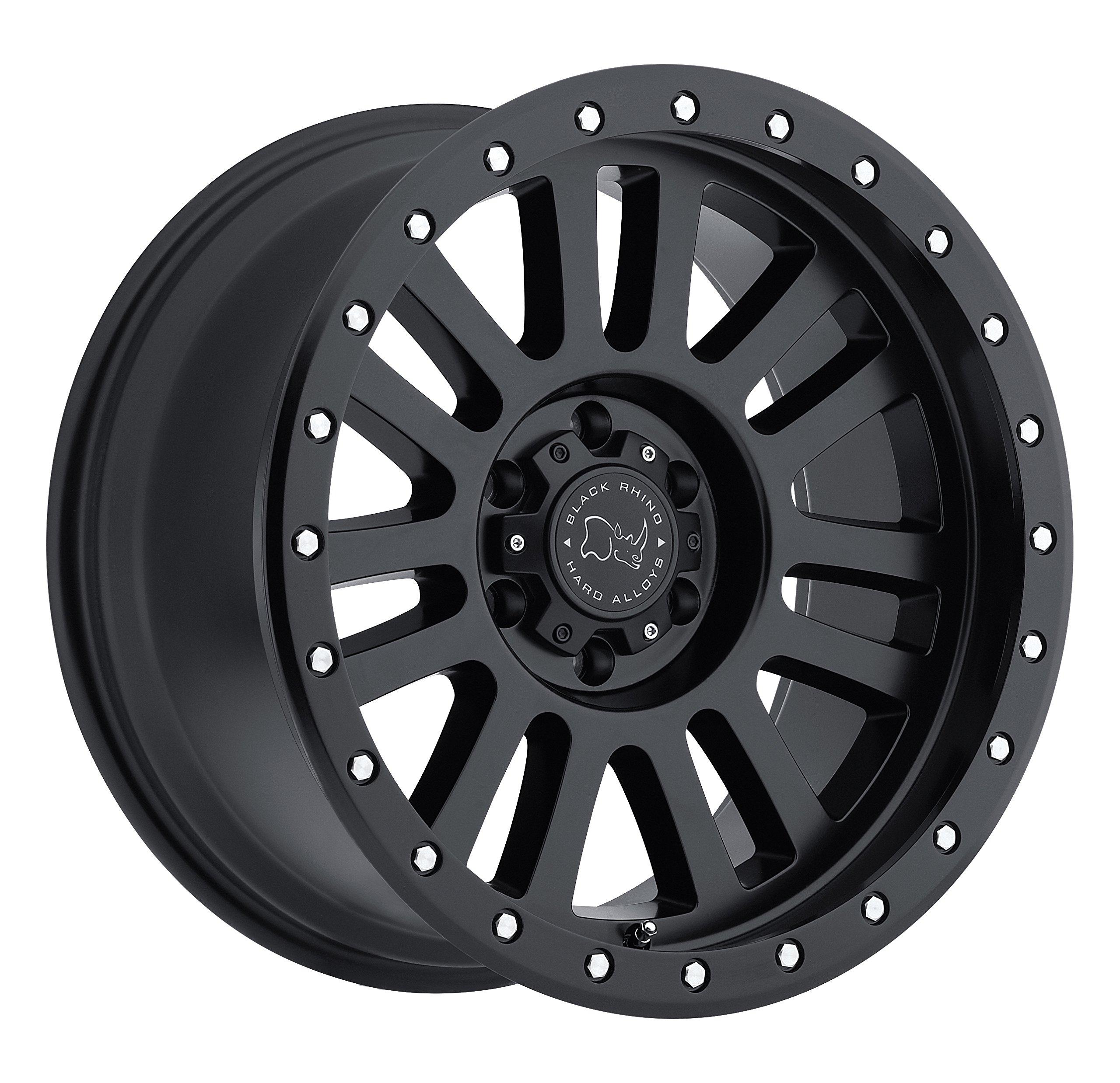 Black Rhino EL CAJON Black Wheel with Painted Finish (18 x 9. inches /6 x 139 mm, 12 mm Offset)