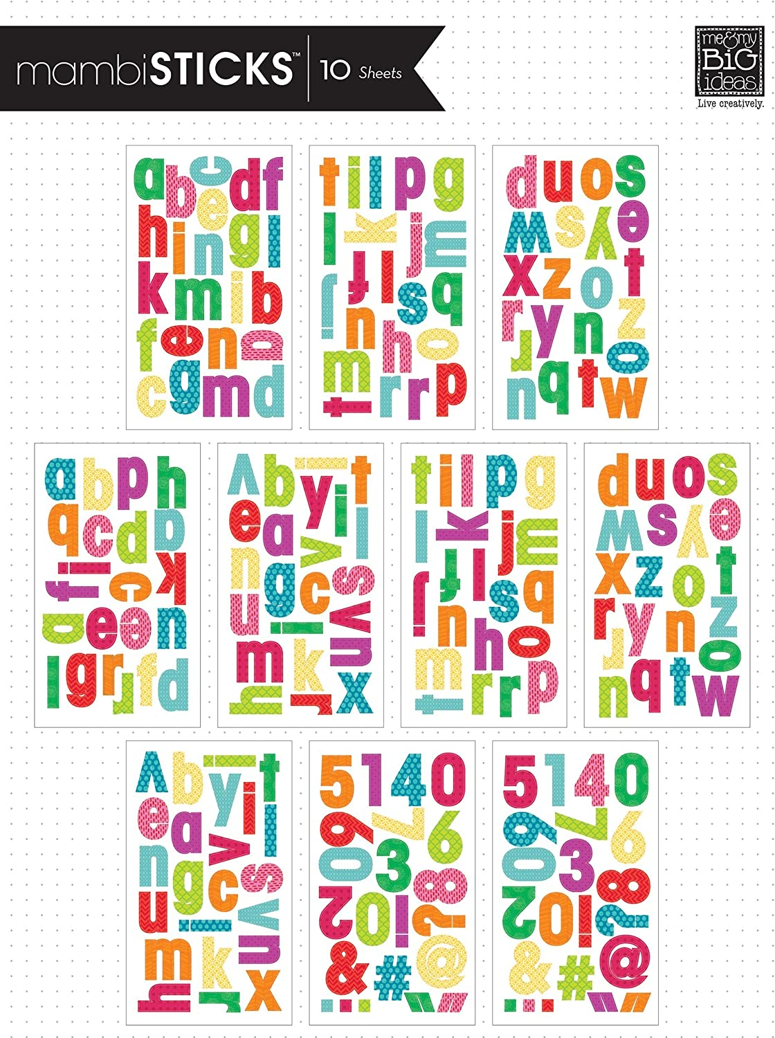 Me and My BIG Ideas STL-81 Century Medium Lowercase Primary Mambi Sticks Stickers
