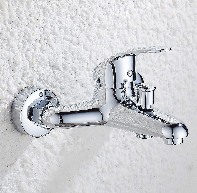 Grifo para Ba/ñera Monomando Mezclador de pared Cromado Mezclador de ducha de Lat/ón kisimixer Grifo de Ducha Cromado