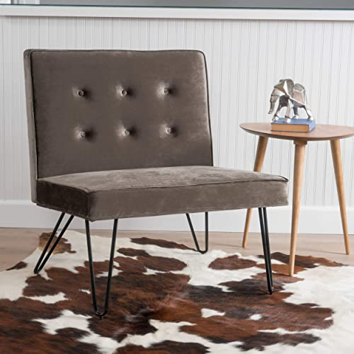 Christopher Knight Home Darrow Velvet Modern Armless Chair