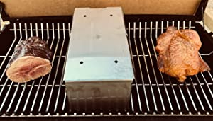 DiamondKingSmoker BBQ Smoking Box Starter Pack Will Turn Any Grill Into A Smoker with No Propane. This Provides All The Heat and The Smoke.