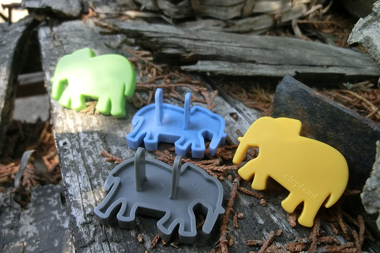 Baby Cool Pack of 4 Cute Animal Outlet Safety Cover - Wonderful Baby Shower Gift (ELEPHANT) AQ-004