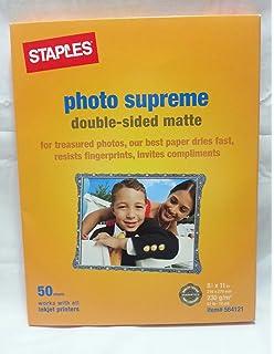 Amazoncom Staples Photo Supreme Paper 13 X 19 Matte 20pack