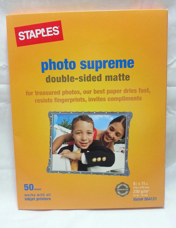 Amazon Staples Photo Supreme Double Sided Matte Photo Paper