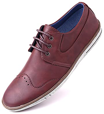 Mio Marino Mens Dress Shoes - Fashion Casual Oxford Shoes for Men -  Countryside Rugged Shoes 2d18edb52f5d