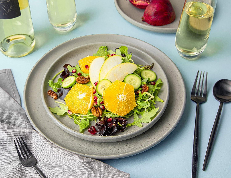 Dinnerware Sets Slate Grey, Dinner Plates - 10 in by Kook,