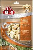 8in1 Delights Chicken Kauknochen (gesunder Kausnack für Hunde, hochwertiges Hähnchenfleisch eingewickelt in Rinderhaut), versch. Größen