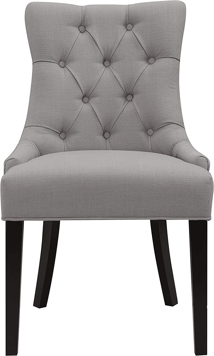 Right2Home Grey Button Tufted Dining Chair, Gray