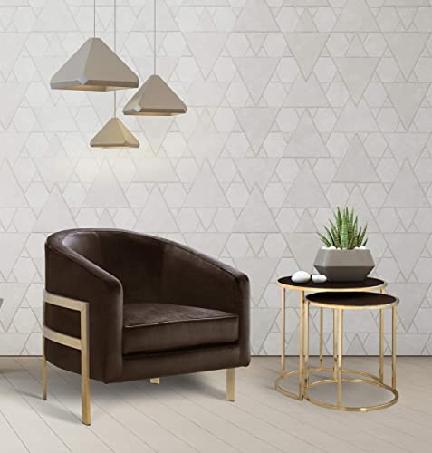 Iconic Home Monte Accent Club Chair Sleek Elegant Velvet Plush Cushion Seat Brushed Brass Finished Stainless Steel Frame Modern Contemporary - the best living room chair for the money