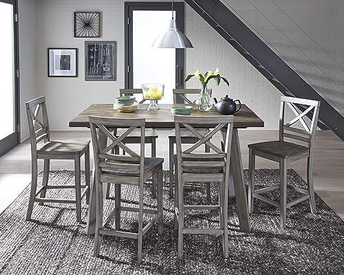 Cambridge Garden Grove 7-Piece Counter-Height Wood Dining Set, Oak
