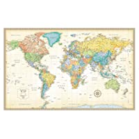 Classic Edition World Wall Map - Laminated Rolled