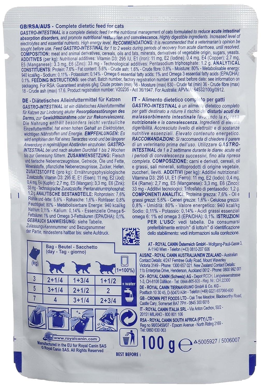 ROYAL CANIN Gastro Intestinal Fresh Bags para Gatos - Para Trastornos Gastrointestinales 12x100g: Amazon.es: Productos para mascotas